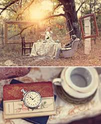 Alice In Wonderland Engagement Pictures