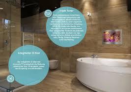 badezimmer bad tv fernseher 18 5 22 32 zoll edelstahl glas