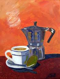 Art Cuban Coffee And Lime By Artist Maria Soto Robbins