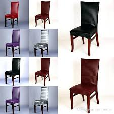 Dining Room Seat Covers Stretch Chair Cover Leather Stretchable