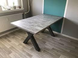esstisch mister mit auszug 160 210 cm x form betonoptik küche