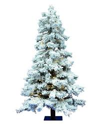Vickerman 5 Flocked Spruce Artificial Christmas Tree With 478 PVC