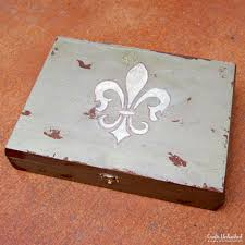 antiqued diy jewelry box