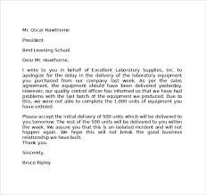 Sample Apology Letter For Being Late Letters Font