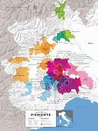 Piedmont Italy Wine Map By Folly 2016 Edition
