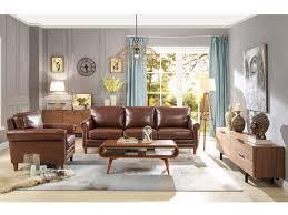 couchgarnitur leder 3 2 braun