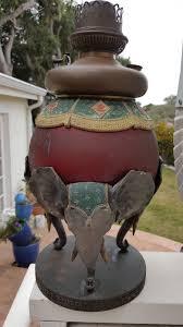 Ebay Antique Table Lamps by Very Rare Antique Bradley U0026 Hubbard B U0026h Three Elephants Table