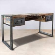 bureau metal bois bureau bois fer salle a manger metal gallery of de d inspiration