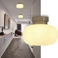 zmh deckenleuchte glas weiße wohnzimmerle deckenleuchte schlafzimmer mit e27 fassung 1 flammig kronleuchter pefekt für flur balkon wohnzimmer
