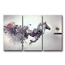 Smash Zebra 3 Piece Black And White Wall Art Pictures Crazy Painting Prints Outdoor Creative Interior Design Decoration