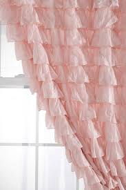 Purple Ruffle Curtain Panel by Curtains Beautiful Pink Mesh Pendant Lamp And Pink Curtain For