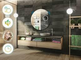 badezimmerspiegel rund badspiegel mit led beleuchtung
