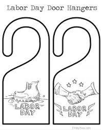 2 Labor Day Door Hangers Coloring Pages