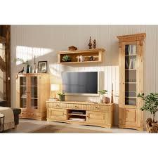 home affaire wohnwand teresa set 3 tlg bestehend aus 1 vitrine klein 1 vitrine groß 1 lowboard