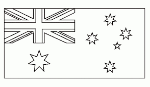 Australian Flag Colouring Page 19 Coloring To Really Encourage Color