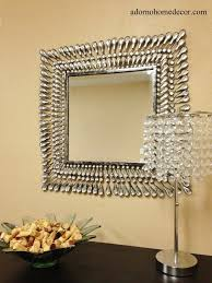 Ebay Decorative Wall Mirrors by Metal Wall Square Crystal Mirror Rustic Modern Crystal Chic Wall