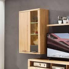 wohnzimmer hängeschrank mit glas led jalzico