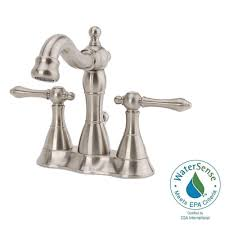 Brushed Nickel Bathroom Faucets Cleaning by Delta Southlake 4 In Centerset 2 Handle Bathroom Faucet In