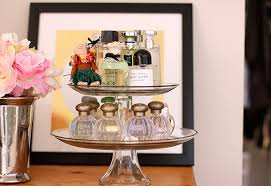 A Sweet Way To Display Your Perfumes Use Cake Stand