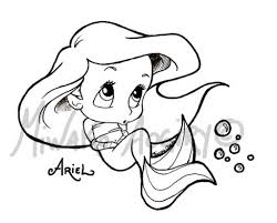 Baby Princess Ariel Coloring Pages With Color