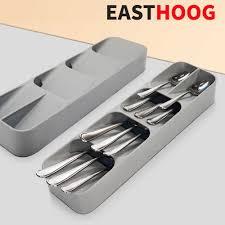 besteck küche schublade geschirr organizer messer und gabel tablett löffel trennung finishing lagerung box küche zubehör