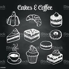 kaffee kuchen tafel stock vektor und mehr bilder bagel