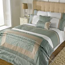 Bed Cover Sets by Just Contempo Leaf Embossed Duvet Cover Set Cotton Blend Duck