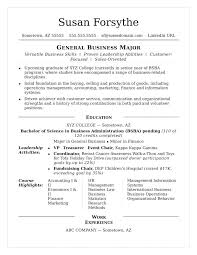 Resume Examples From College Students With Sample For Frame Stunning Seeking Internships 467