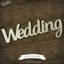 Wooden Wedding Signs Cursive Fonts Rustic Sign Wall Letters Custom Word Cut Out DIY Letter