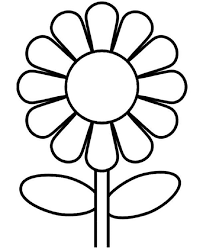 Simple Sunflower Coloring Pages Check More At Coloringareas 7390