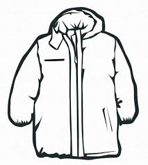Print Coat Winter Clothes Coloring Page or Download Coat Winter