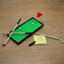 mini golf de bureau gadget de bureau accessoires et objets originaux pour le bureau