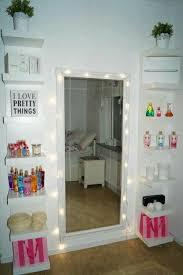 DIY Vanity Mirror With Lights For Bathroom And Makeup Station Bedroom StuffTeenage Girl DecorTumblr