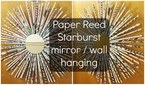 DIY Paper Reed Starburst Wall Decor For Ideas