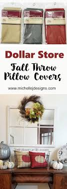 Fall Throw Pillow Covers - Dollar Store Style | Michelle ... Dollar Tree Splatter Screen Snowman Teresa Batey Lifestyle Easter Bunny Chair Back Covers Tail How To Make I Heart Dollar Tree 1014 1031 15 Diy Store Halloween Decorations Simple Made Grinch Wreath Out Of Supplies Leap Petal Cover Wedding Bridal Shower Party Decor Christmas Chair Back Covers Santa Hat Motif Set 4 Four Santa Hat Chairback Over The Holidays Fall Pillow From Towels Mommy My Own Flash Party Theme Table Cloth And Glam Crystal Christmas Trees Delight Life Linda 12 Craft Ideas Hip2save