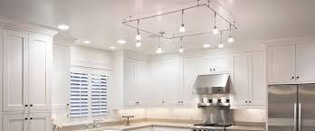 kitchen wooden varnished kitchen island led track lighting