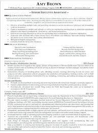 Executive Assistant Resume Examples Senior