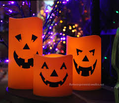 Solar Halloween Pathway Lights by Halloween Jack O Lantern Flameless Outdoor Candle 6 X 9 Inch