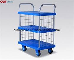 100 Hand Truck Vs Dolly China Factory 250kg Stocked Cart 4 Wheel Folding Platform