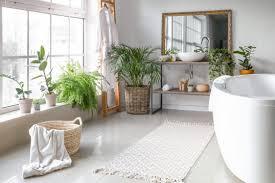 badezimmer idee skandinavisches bad mit dekoration