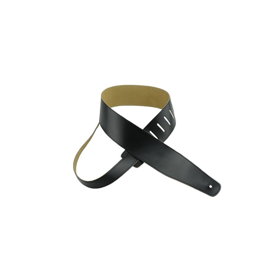 Henry Heller Basic Leather Guitar Strap Black with Black Stitch