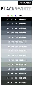 Black White Color Scheme Web Colors