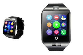 bo of Silver and Black smart watch patible with Apple iPhone