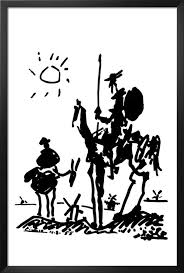 Get Quotations Framed Don Quixote By Pablo Picasso 36x24 Art Print Poster Famous Painting Man Of La Mancha