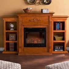 Living Room With Fireplace And Bookshelves by Electric Fireplace With Bookshelves Foter