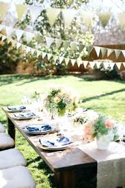 Garden Party Table Decorations Ideas Flower Elegant Outdoor Centerpieces