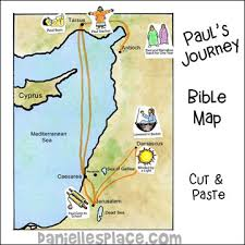 Color A Bible Map Of Pauls Journey