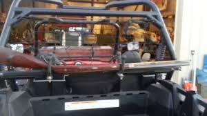 Diy Gun Cabinet Plans by Home Built Polaris Rzr Xp Utv Gun Racks By Itchy Youtube