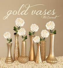 Gold Vases Custom Wedding Decor By TheBarnett