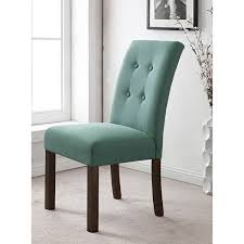 Parsons Mini Desk Aqua by Homepop 4 Button Tufted Aqua Textured Parson Chair Set Of 2